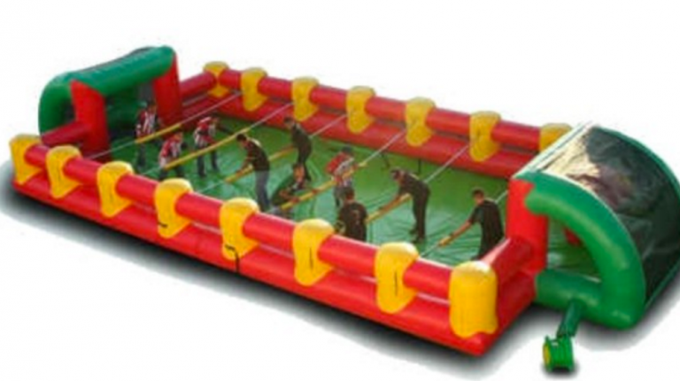 Giant Human Foosball Table